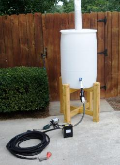 Pump Water: Pump Water From Rain Barrel